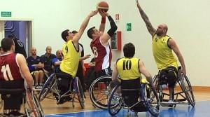 finale della coppia dei campioni Basket in carrozzina all'istituto santa Lucia