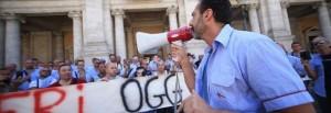 © Daniele Stanisci ag. Toiati Manifestazione dei dipendenti ATAC in piazza del Campidoglio