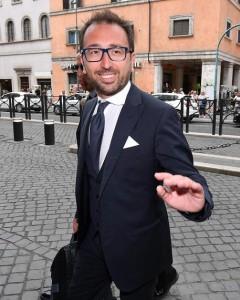 Il ministro della Giustizia, Alfonso Bonafede, arriva al Senato per il voto di fiducia, Roma, 5 giugno 2018.   ANSA/ETTORE FERRARI