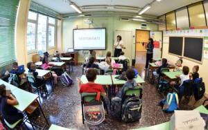 Primo giorno di scuola presso l?istituto comprensivo Marconi Antonelli, Torino, 9 settembre 2019  ANSA/ ALESSANDRO DI MARCO